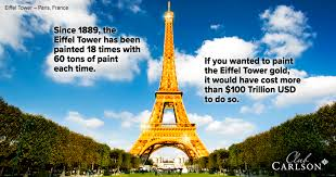 points of gold facts about the eiffel tower view from the club