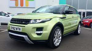 green range rover land rover range rover evoque 2 2 sd4 dynamic lux pack