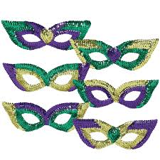party mask mardi gras sequin party masks pack of 6 walmart
