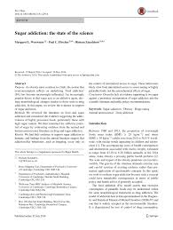 sugar addiction the state of the science pdf download available