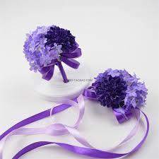 flower bracelet diy images Purple diy wedding bouquet wrist corsage flower bracelet for bride jpg