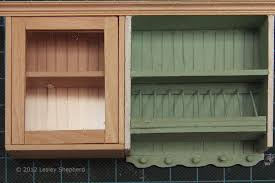 Kitchen Cabinet Cornice Add Opening Glass Front Cabinets To A Dollhouse Miniature Kitchen