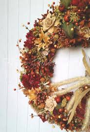 fall floral wreath autumn wreath thanksgiving wreath home decor
