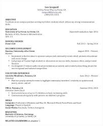 work experience resume resume formats for college students