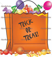 halloween clipart candy bag pencil and in color halloween