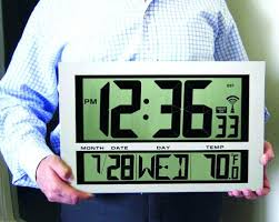 lighted digital wall clock large digital wall clock with date temperature digital wall clock