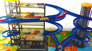 toy car garage parking playset with hot wheels cars toys for boys toy car garage parking playset with hot wheels cars toys for boys youtube