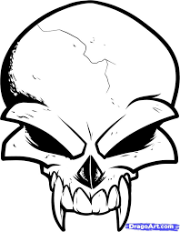 how to draw a skull design skull design by