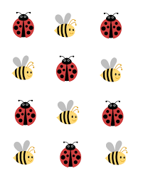 ladybug and bees tic tac toe game free printables
