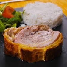 cuisiner du filet mignon de porc recette filet mignon de porc feuilleté aux chignons cuisine