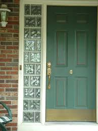 installing new front door with sidelights entry glass blocks