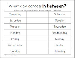 ideas of days of the week worksheets about worksheet austsecure com