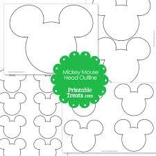 printable mickey mouse head outline u2014 printable treats com
