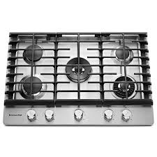 Modular Gas Cooktop Shop Kitchenaid 5 Burner Gas Cooktop Stainless Steel Common 30