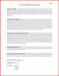 cover letter for warehouse job awesome assistant warehouse manager job description excuse letter