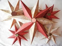 handmade paper star christmas tree ornaments and tree topper
