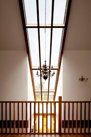 glass skylight double height entrance gallery landing