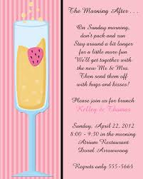 wedding brunch invitation chagne toasting flutes after wedding brunch invitations