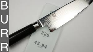 how to sharpen shun classic chef knife on shapton glass 320 youtube