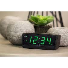 equity by la crosse green led 0 9 in digital alarm clock 30229