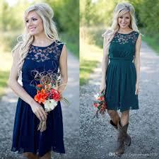 cheap lace country bridesmaid dresses 2017 royal blue short