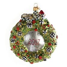 mackenzie childs glass ornament 2017 wreath