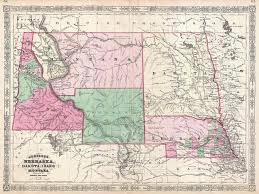 Map Of Counties In Nebraska Map Of Nebraska Dakota Montana And Wyoming Barry Lawrence