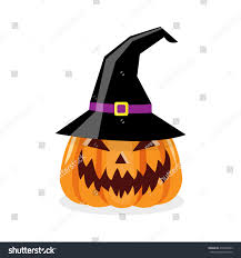 cartoon illustration scary halloween pumpkin witch stock vector