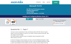70 410 microsoft real exam questions 100 free exam labs