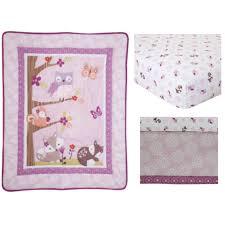 lambs u0026 ivy bedtime originals lavender woods 3 piece crib bedding