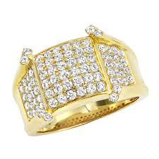 rings gold men images Unique diamond pinky rings luxurman mens diamond ring in 14k gold jpg