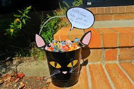 halloween candy bowl craft black cat bucket jam blog