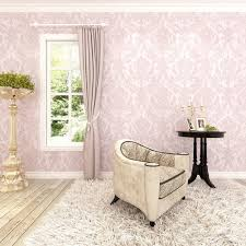 textured accent wall pink accent wall classic nonwoven glitter flocking textured damask