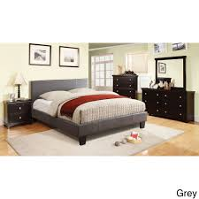 Overstock Platform Bed Furniture Of America Kutty Padded Leatherette Platform Bed