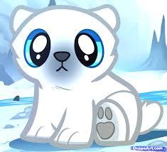 how to draw a baby polar bear polar bear cub step by step