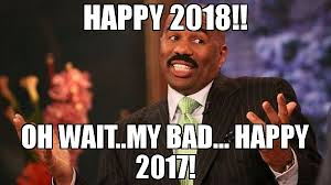 Steve Harvey Memes - happy 2018 oh wait my bad happy 2017 meme steve harvey