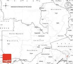 map of zambia blank simple map of zambia