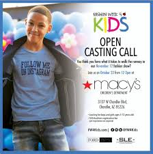 Macy S Children S Clothes Az Insider Casting Call Oct 22 For Fashion Week 4 Kids