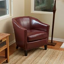 Small Leather Armchair Carlton Red Leather Club Chair Modern Living Room Los