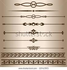 decorative elements design elements decorative line stock vector