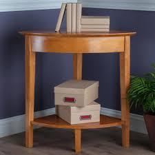 amazon com winsome wood corner desk with shelf honey kitchen