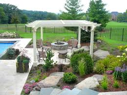 Pergola With Fire Pit by Before After Gallery Bull Valley Stonewood Design Group