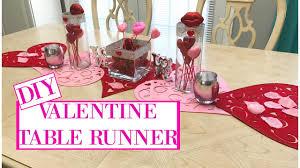 valentines day table runner diy table runner