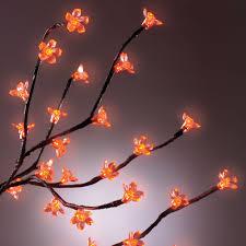 orange halloween tree the prelit halloween tree hammacher schlemmer