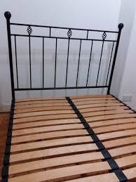 black victorian wrought iron u0027nights in iron u0027 double bed frame