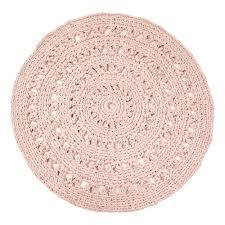 Round Pink Rugs by Round Crochet Rug Powder Pink Naco Design Children