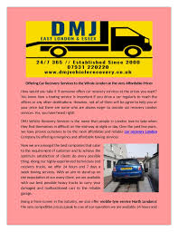 dmj vehicle recovery service are provide the best commercial towing s