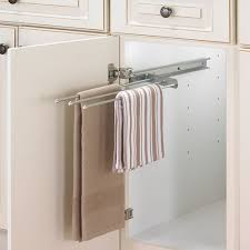 kitchen cabinet towel rail cabinet pull out towel bar chrome in kitchen holders stylish inside