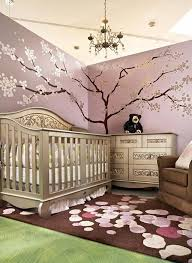arbre chambre bébé chambre enfant tapis chambre bébé marron motifs blanc sticker