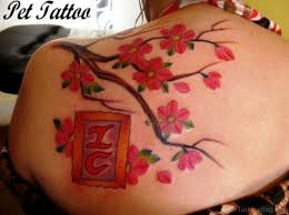 55 superb cherry blossom tattoos on shoulder